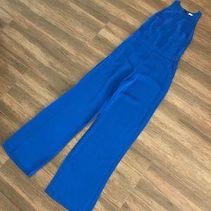 Karina Grimaldi Classic Blue Silvia Solid Jumpsuit